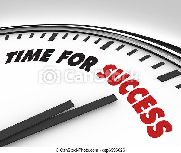 Time for Success - Clock Achievement and Goals - csp6336626