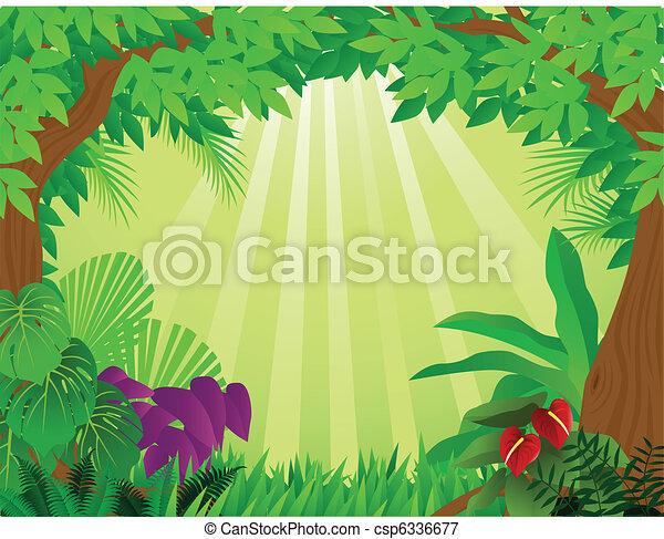 tropical rainforest clipart rh worldartsme com tropical rainforest waterfall clipart Tropical Rainforest Animals Clip Art