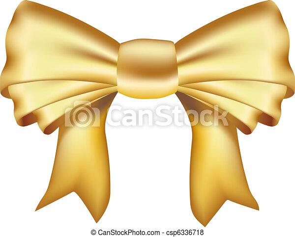 realistic golden ribbon - csp6336718