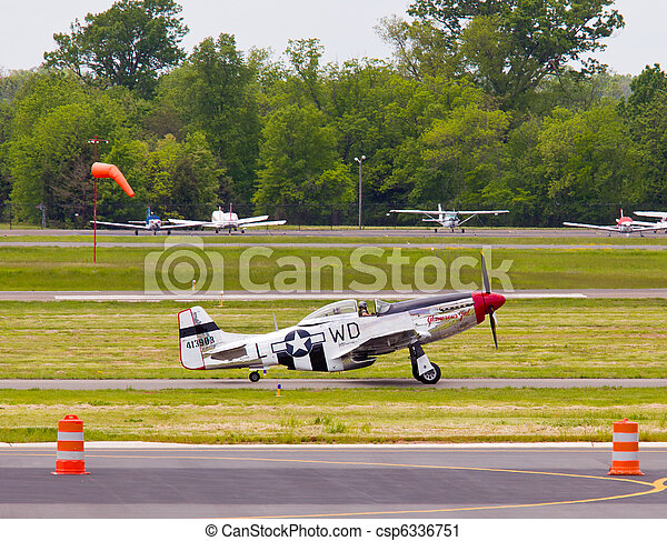 P-51 Mustang airplane - csp6336751