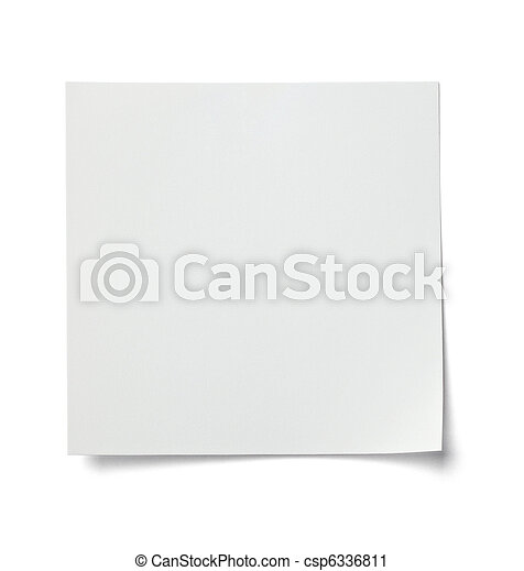 white note paper message label business - csp6336811