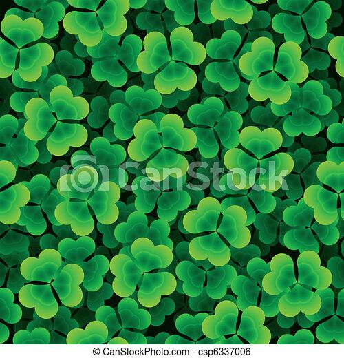 Seamless clover background - csp6337006