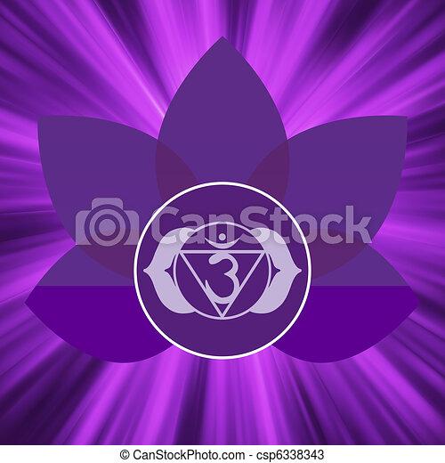 Ajna chakra symbol. EPS 8 - csp6338343