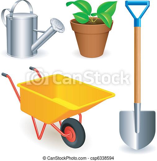 Garden tools. - csp6338594