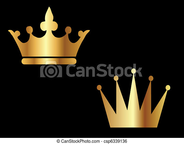 Gold Crowns - csp6339136