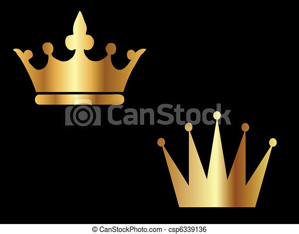 Gold Crowns  - csp6339136