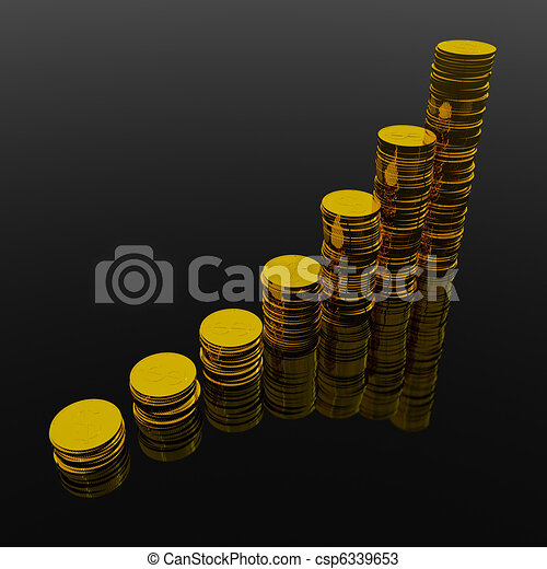 Coins showing profit and gain - csp6339653
