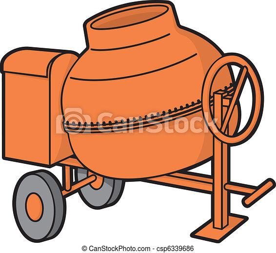 Orange Cement Mixer Concrete Mixer Orange Mini