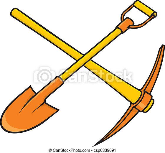 Pickaxe and shovel - csp6339691