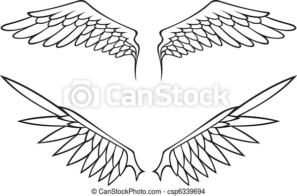 Bird With Open Wings Drawing Open Angel or Bird Wings
