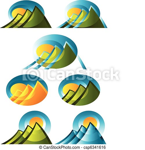 Abstract Mountain Icons - csp6341616