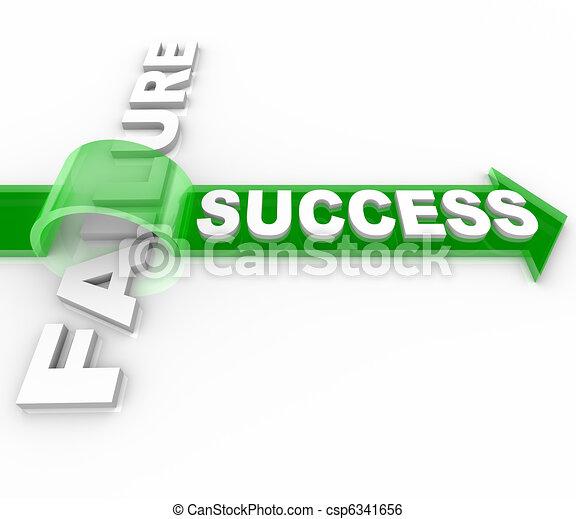 Success Vs Failure - Overcoming an Obstacle to Reach Goal - csp6341656