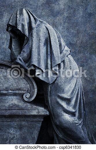 Mourning Figure - csp6341830