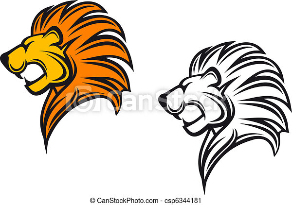Lion head - csp6344181