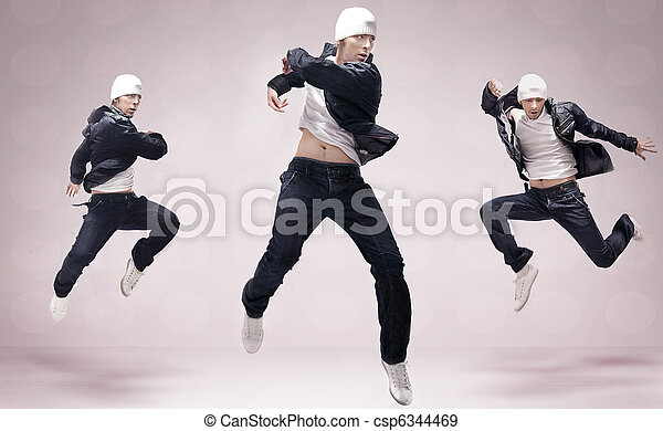 Three hip-hop dancers - csp6344469