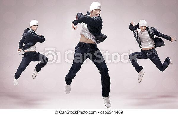 Three hip-hop dancers - csp6344469