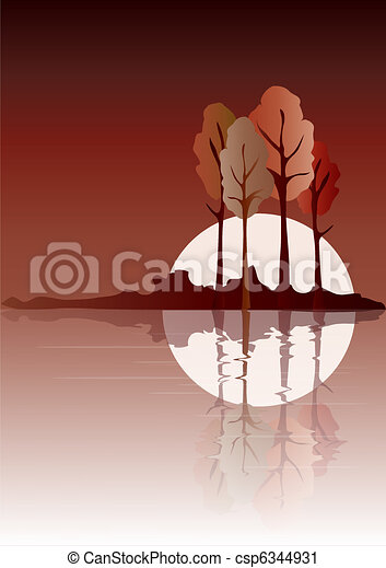 Autumn reflected - csp6344931