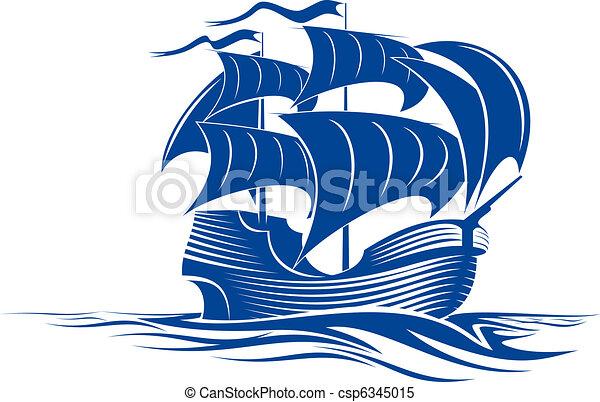 Sail ship - csp6345015