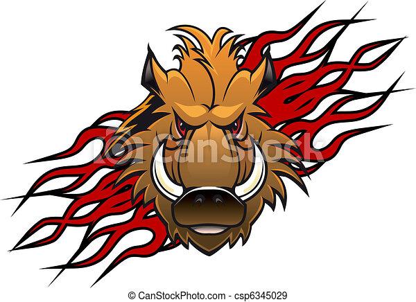 Wild boar tattoo - csp6345029