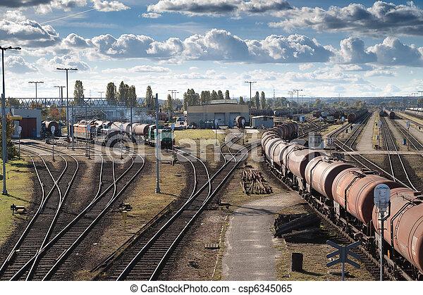 Transportation on a railway - csp6345065