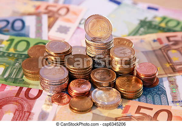 Euro coins and notes - csp6345206