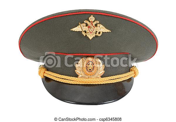Stock foto russische militaer offizier kappe freigestellt