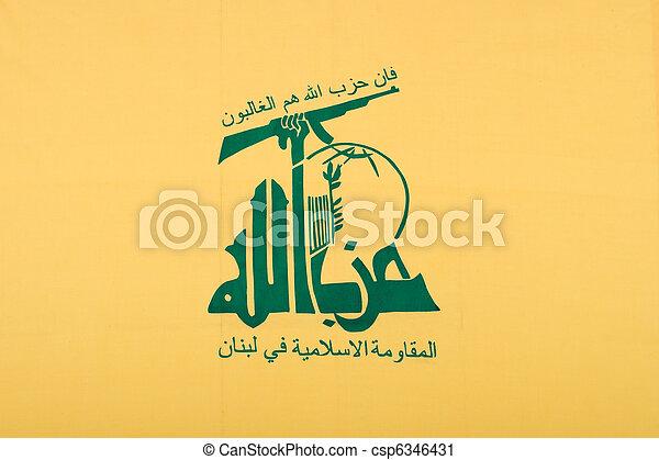 a, bandeira, lebanese, terrorista, organização, Hezbollah - csp6346431
