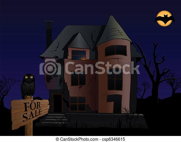 spooky house - csp6346615