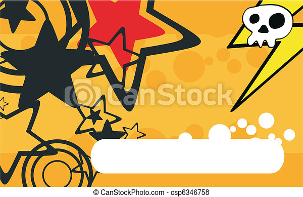 skull cartoon background8 - csp6346758