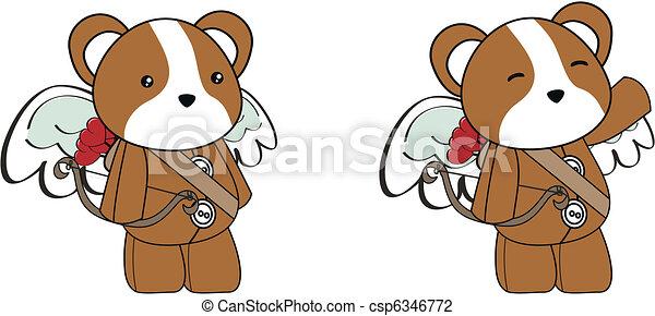 Illustration vecteur de hamster cupidon dessin anim - Hamster dessin anime ...