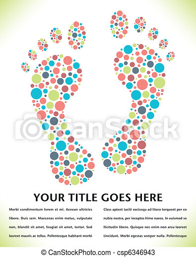 Footprint design made from circles. - csp6346943