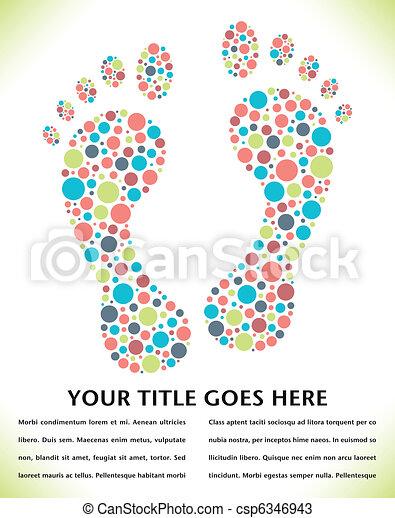 Footprint design made from circles. - csp6346943