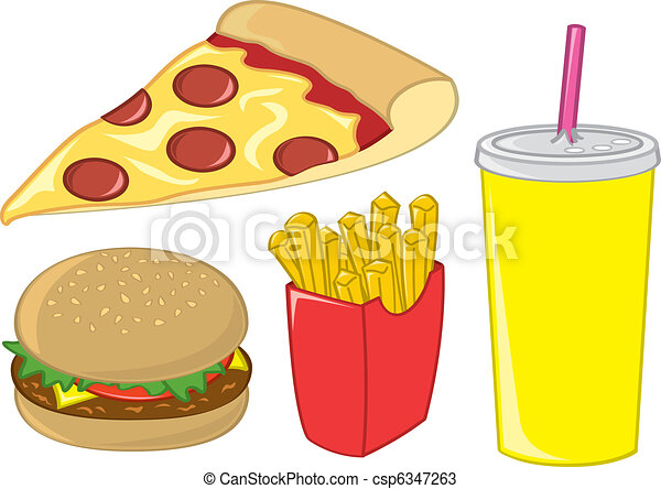 Fast Food Items - csp6347263