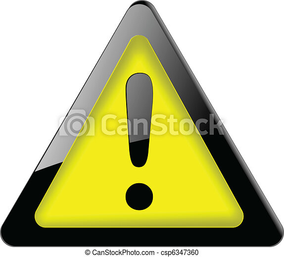Danger sign. icon vector. - csp6347360