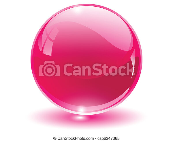 3D crystal, glass sphere - csp6347365