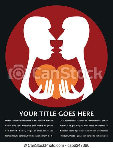Human passion design.  - csp6347390