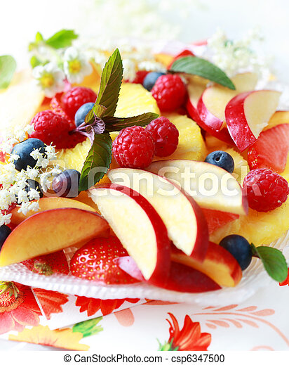 Fresh fruit dessert - csp6347500