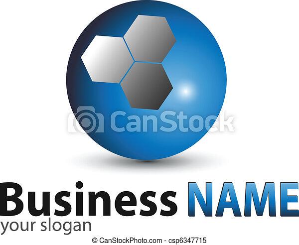 Logo blue glossy sphere - csp6347715