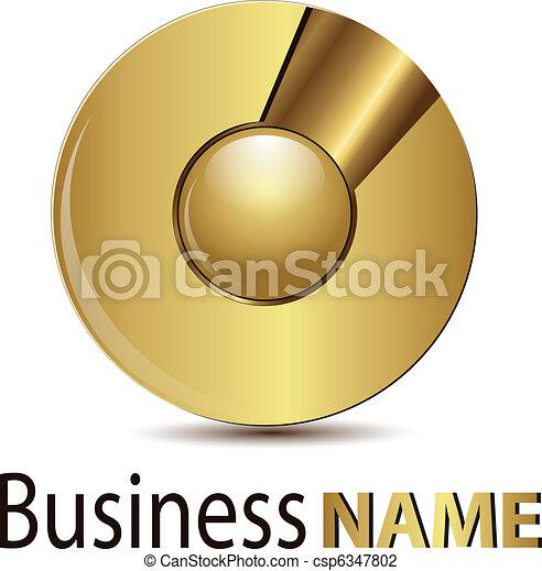 Logo gold sphere - csp6347802