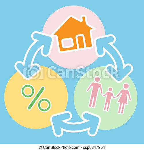 Family Home Mortgage Loan Financing Process - csp6347954