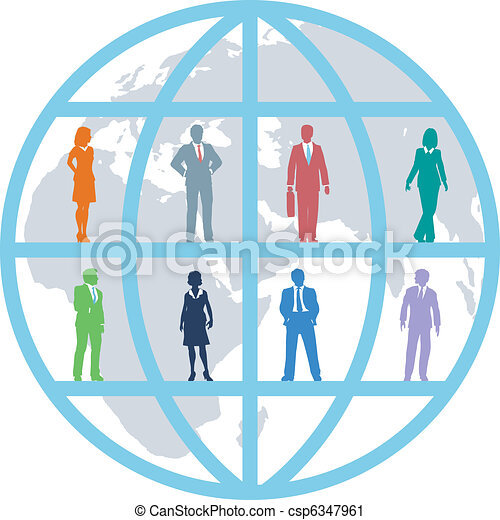 Global business world people resources team - csp6347961