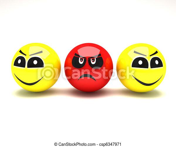 smiley face happy unhappy - csp6347971