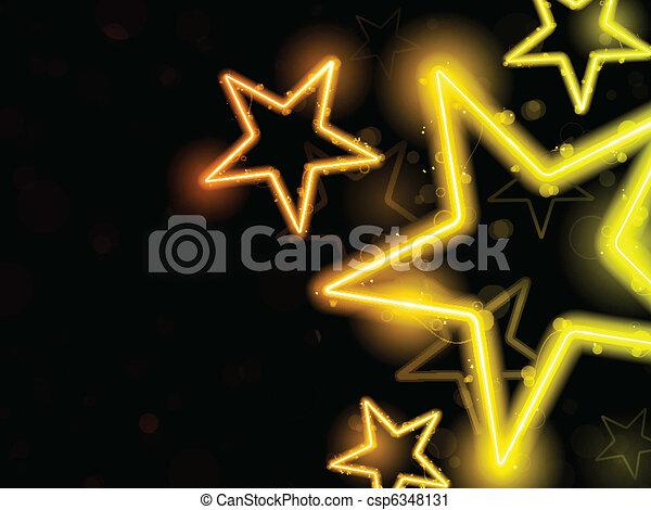 Glowing Neon Stars Background - csp6348131