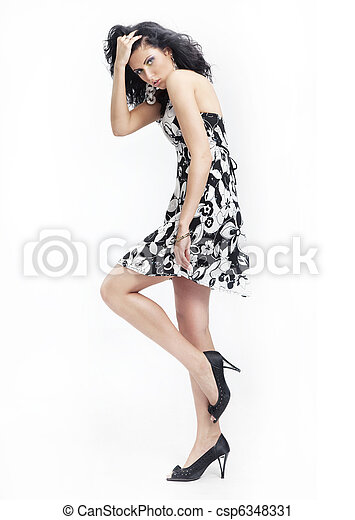 mulher, moda - csp6348331