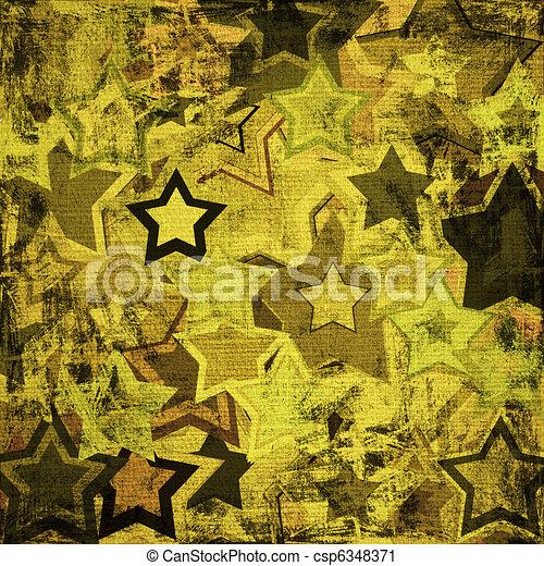 grunge military stars - csp6348371