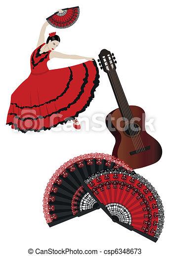 Vecteurs de flamenco illustration de a flamenco - Danseuse flamenco dessin ...