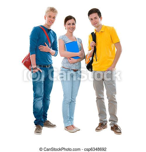 high-school students - csp6348692