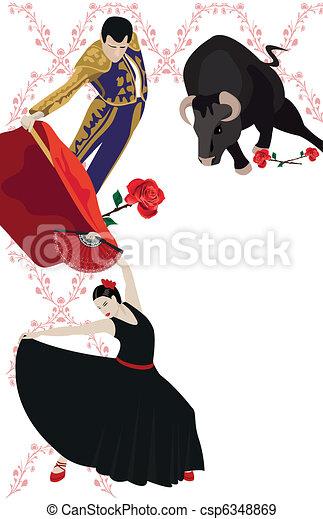 Flamenco and Bullfighting - csp6348869