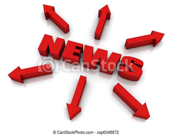 Spread The News - csp6348872