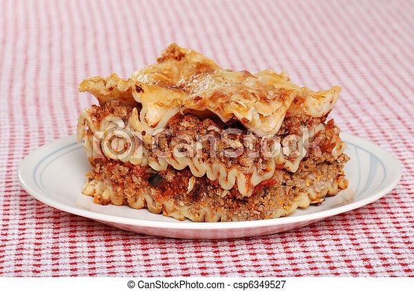 single serving of lasagna - csp6349527